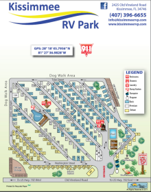 Location Map of Orlando Kissimmee RV Park in Florida